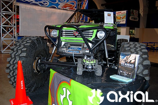 Jake Hallenbecks Axial rigs. His 1:1 and RC rig.